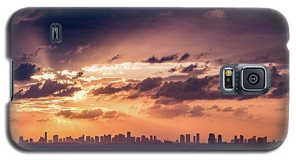 Miami Sunset Pano Galaxy S5 Case