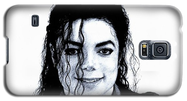Galaxy S5 Case featuring the drawing Michael Jackson Pencil Drawing  by Movie Poster Prints