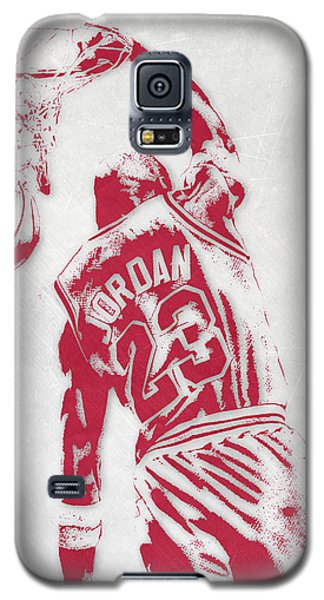 Michael Jordan Chicago Bulls Pixel Art 1 Galaxy S5 Case