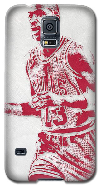 Michael Jordan Chicago Bulls Pixel Art 2 Galaxy S5 Case