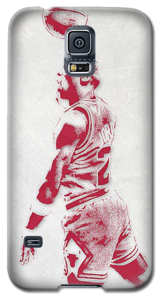 Michael Jordan Chicago Bulls Pixel Art 3 Galaxy S5 Case