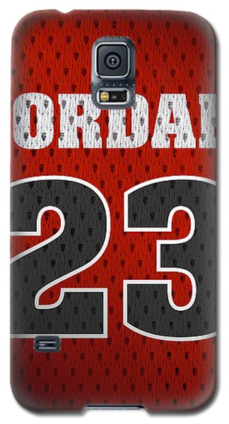 Michael Jordan Chicago Bulls Retro Vintage Jersey Closeup Graphic Design Galaxy S5 Case