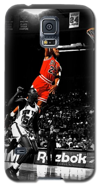 Michael Jordan Suspended In Air Galaxy S5 Case by Brian Reaves