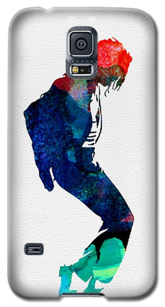 Michael Jackson Galaxy S5 Case - Michael Watercolor by Naxart Studio