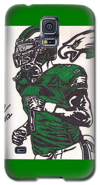Galaxy S5 Case featuring the drawing Micheal Vick by Jeremiah Colley