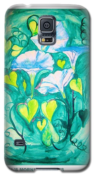 Micheal's Morning Glories Galaxy S5 Case by Cathy Long
