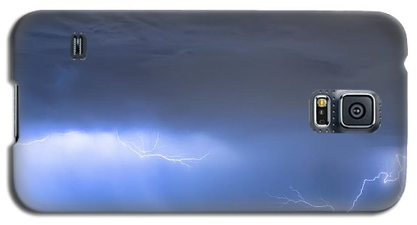 Galaxy S5 Case featuring the photograph Michelangelo Lightning Strikes Oil by James BO Insogna