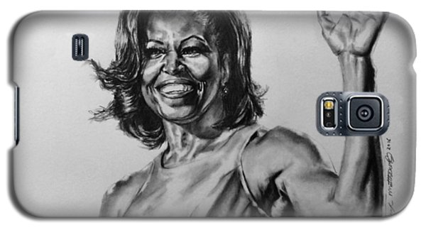 Galaxy S5 Case featuring the painting  Michelle Obama  by Darryl Matthews