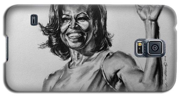 Michelle Obama  Galaxy S5 Case by Darryl Matthews