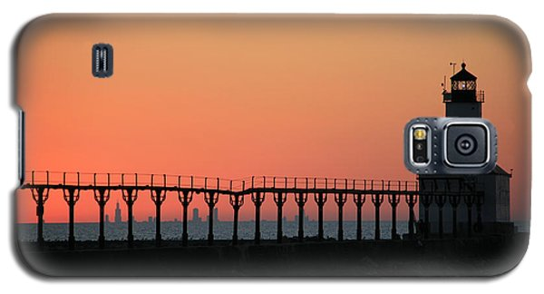 Michigan City East Pier Lighthouse Galaxy S5 Case by George Jones