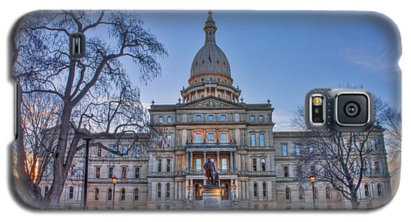 Galaxy S5 Case featuring the photograph Michigan State Capitol by Nicholas Grunas