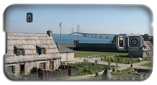Michilimackinac And Mackinac Bridge Galaxy S5 Case