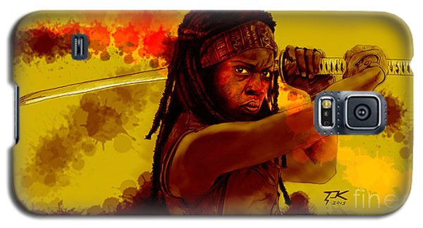Michonne Galaxy S5 Case by David Kraig