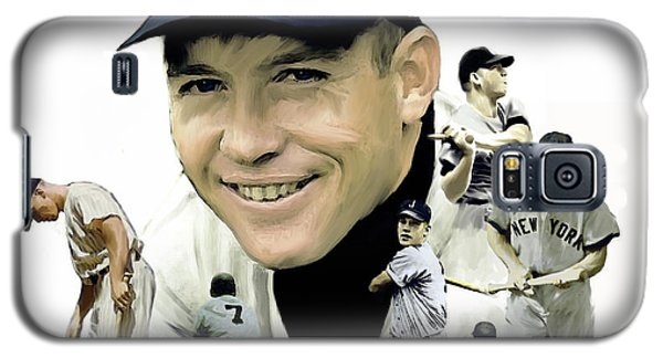 Mickey Mantle Legacy, II  Galaxy S5 Case by Iconic Images Art Gallery David Pucciarelli