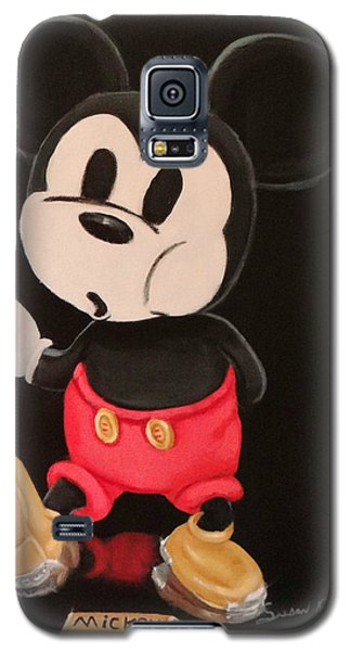 Galaxy S5 Case featuring the painting Mickey On Tap by Susan Roberts