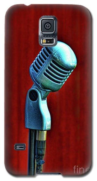 Galaxy S5 Case featuring the photograph Microphone by Jill Battaglia