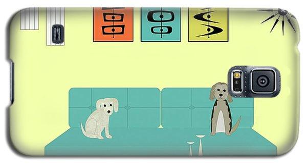 Mid Century Modern Dogs 2 Galaxy S5 Case
