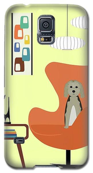 Mid Century Modern Dogs 3 Galaxy S5 Case