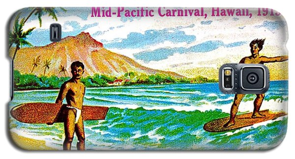 Mid Pacific Carnival Hawaii Surfing 1915 Galaxy S5 Case by Peter Gumaer Ogden