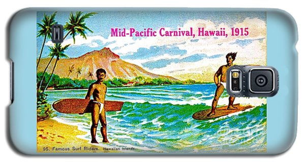 Mid Pacific Carnival Hawaii Surfing 1915 Galaxy S5 Case