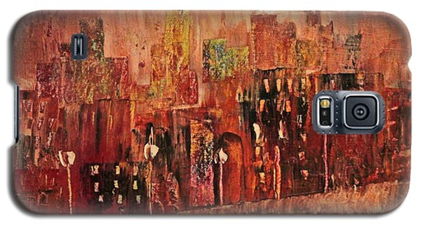 Galaxy S5 Case featuring the painting Mid Town by John Stuart Webbstock
