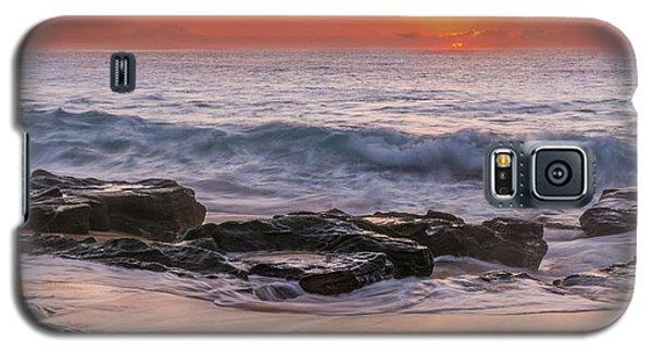 Middle Beach Sunrise Galaxy S5 Case