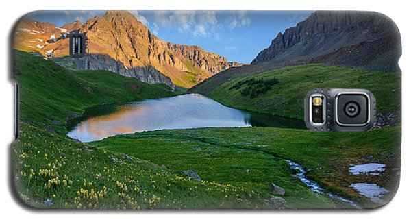 Galaxy S5 Case featuring the photograph Middle Blue Lake Sunrise by Aaron Spong