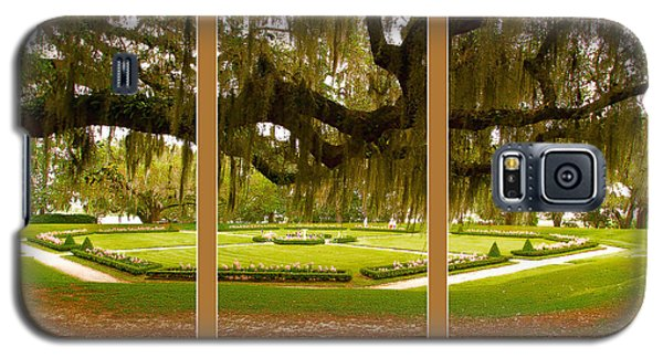 Galaxy S5 Case featuring the photograph Middleton Gardens Triptych by Bill Barber