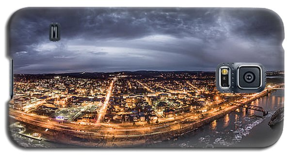 Middletown Connecticut, Twilight Panorama Galaxy S5 Case
