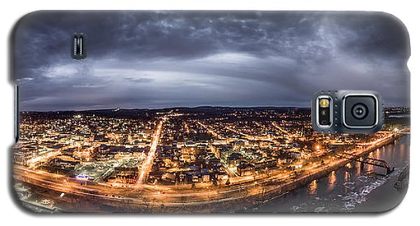 Galaxy S5 Case featuring the photograph Middletown Connecticut, Twilight Panorama by Petr Hejl