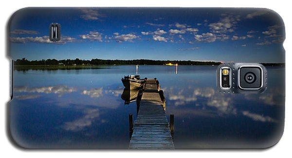Midnight At Shady Shore On Moose Lake Minnesota Galaxy S5 Case by Alex Blondeau