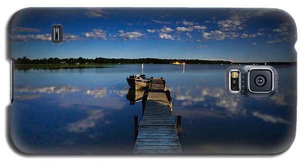 Midnight At Shady Shore On Moose Lake Minnesota Galaxy S5 Case