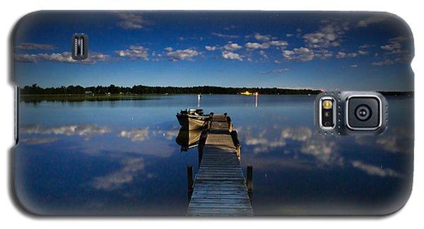Midnight At Shady Shore On Moose Lake Minnesota Galaxy S5 Case