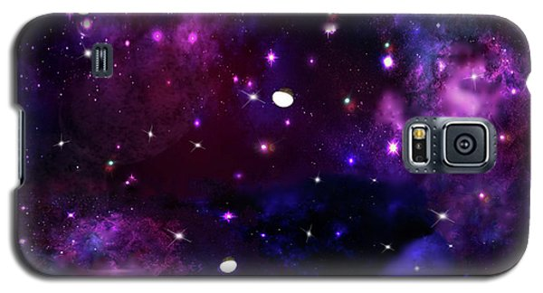 Galaxy S5 Case featuring the photograph Midnight Blue Purple Galaxy by Rockin Docks Deluxephotos