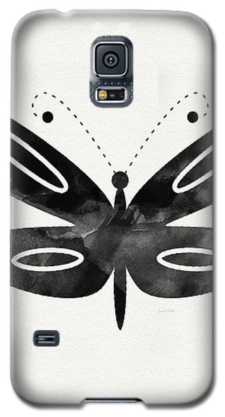 Butterfly Galaxy S5 Case - Midnight Butterfly 1- Art By Linda Woods by Linda Woods