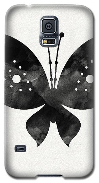 Butterfly Galaxy S5 Case - Midnight Butterfly 2- Art By Linda Woods by Linda Woods