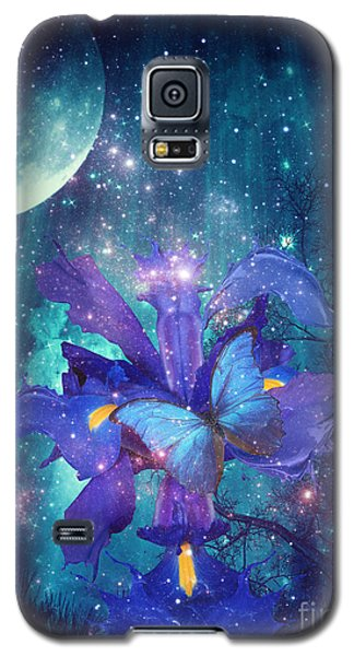 Galaxy S5 Case featuring the digital art Midnight Butterfly by Mo T