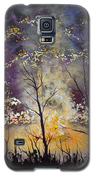 Galaxy S5 Case featuring the painting Midnight Campsite by Dan Whittemore