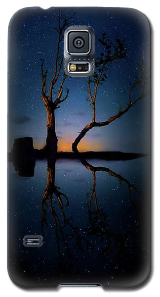Galaxy S5 Case featuring the photograph Midnight Dance Of The Trees by Mark Andrew Thomas