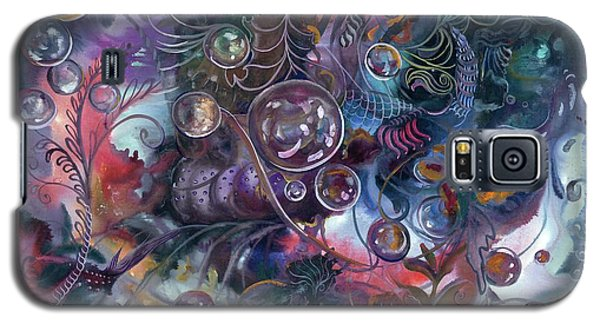 Midnight Dancing Bubbles Galaxy S5 Case