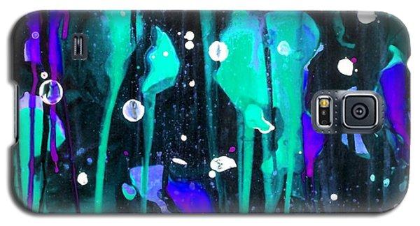 Midnight Garden Blue Galaxy S5 Case by Carolyn Repka