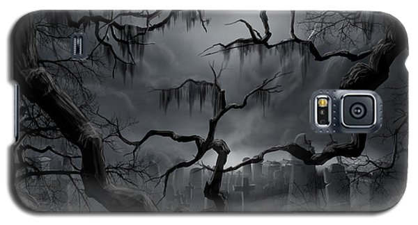 Midnight In The Graveyard II Galaxy S5 Case by James Christopher Hill
