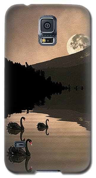 Midnight Moods Swan Lake In The Moonlight Galaxy S5 Case