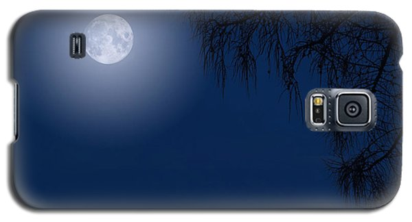 Midnight Moon And Night Tree Silhouette Galaxy S5 Case