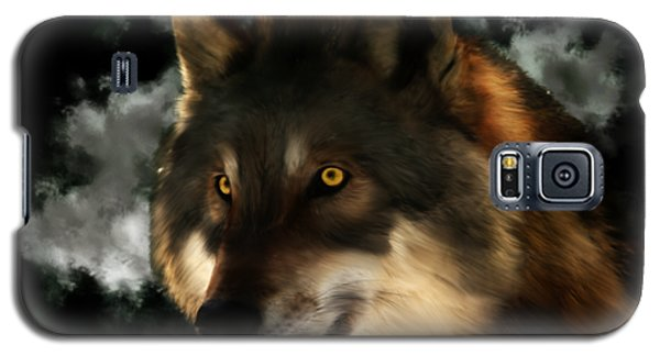 Midnight Stare - Wolf Digital Painting Galaxy S5 Case
