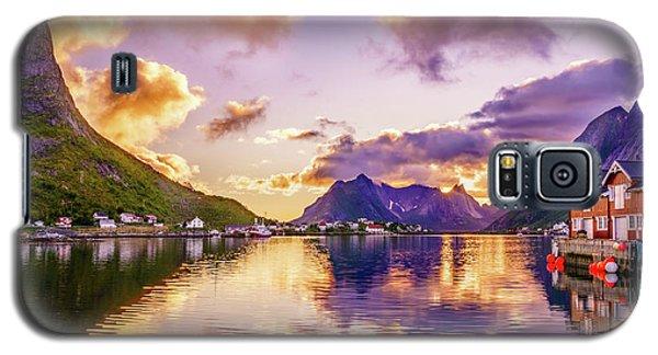 Midnight Sun Reflections In Reine Galaxy S5 Case