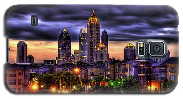 Midtown Atlanta Towers Over Atlantic Commons Art Galaxy S5 Case