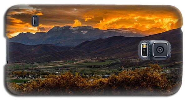 Midway Utah Sunset Galaxy S5 Case