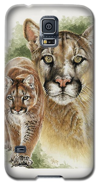 Galaxy S5 Case featuring the mixed media Mighty by Barbara Keith