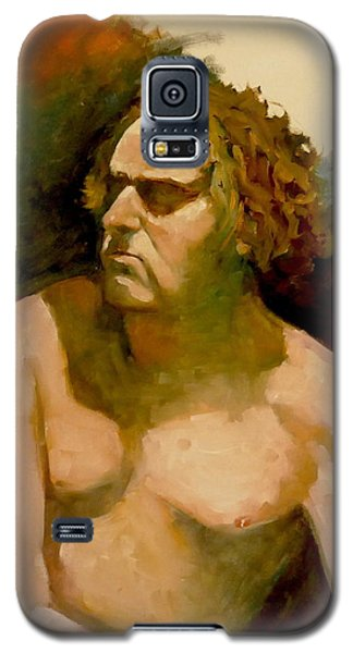 Galaxy S5 Case featuring the painting Mike. by Ray Agius